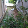 ウッドパネルでリフォームした庭。その後。
