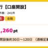 【ハピタス】ジャパンネット銀行 口座開設で1,260ポイント(1,260円)♪ 発行手数料・年会費無料♪