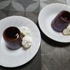 紫芋プリンと亥の子餅