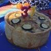今年は甘くない誕生日ケーキを用意してみました。