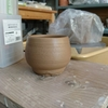 敬老の日のために陶芸体験で湯呑を作りました。