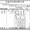 マスターカード・ジャパン株式会社 H30年度決算公告
