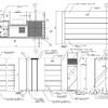 柱巻とフィッティングルームの外観図