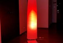 炎も躍るサウンド レベル メーター。IKEAのフロアランプをカラフルに改造