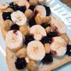 【バナナ×ブルーベリーソース×ナッツ】トースト