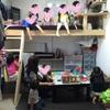 DIY ロフト色ぬり。コンパネの机を作成。