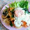 今日のごはん:6月24日のみはるごはんレシピ(ワンプレート、鎌田醤油だし醤油で野菜炒め)