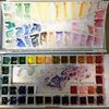 水彩絵の具パレット、色見本