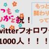祝Twitterフォロワー1000人!!良縁のためにはキャラの確立が大事って話