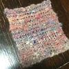 段染めで紡いだ糸でコースターを作りました