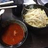 荒木屋@蒲田の半ラーメン(冷やし大辛肉味噌麺)半三色丼セット