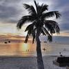 タオ島 1日目の夕刻のサイリービーチ(Sairee Beach)にて暫しサンセットを眺める!!