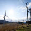 面ノ木風力発電所が明るい廃墟みたいで楽しい