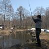 裏磐梯での釣り