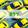 黄色い車でナンバー「877」はダサい。ドンキーコングの車みたい
