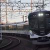 〈11/21 関西遠征-10〉夕暮れた京阪電車