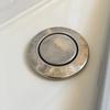 【お風呂掃除】ステンレス部分の水垢にはクエン酸パックが効果的。最後の拭き取忘れずに!