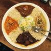 ●松本市「メーヤウ信大前店」でカリー4種類大皿セット④