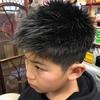 小学生の髪型なら鈴鹿市のヘアーサロン、バーバーそらまめ