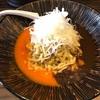556. ヒラガニの冷やし和えそば@稲荷屋(稲荷町):蟹とトマトの二刀流!蟹好きにはたまらなすぎる超贅沢な一杯!