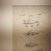 昔の特許図面をエイジングして部屋に飾ってみる