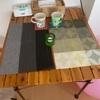 キャンプ用テーブルを普段使い ダイニングテーブルに