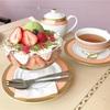 六本木の老舗喫茶で♪ティラミス仕立ての抹茶苺サンデー(ALMOND @六本木)