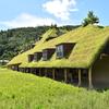滋賀県おもしろスポット  苔の屋根とジブリ的世界