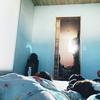 朝日のベッド