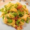 簡単【1食63円】冷凍むき枝豆とトマトのオムレツの作り方