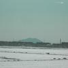 筑波山に雪が被る