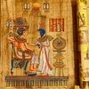 エジプト ギザ パピルス店「Aegyptus Papyrus」で実演とお買い物、パピルス偽物が横行 本物の見分け方