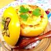 柿とカマンベールの肉味噌グラタン