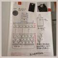 ほぼ日手帳に描く編み図|携帯ケース(ミニポーチ)