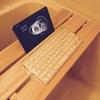 防水Bluetoothキーボードと防水iPadminiケースがないからダイソーのビニールで代用する