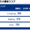 第203回TOEIC公開テスト【2015年09月13日(日)】の結果