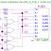 ADD命令およびSUB命令を74シリーズで実装する