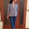 涼し気なギンガムチェックのシャツは大人女性におススメの夏服