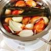 タマネギ皮ごと出汁スープ