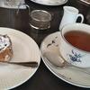 【銀座の教文館ビルでバラの花のケーキ】カフェ きょうぶんかん