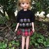 手編みのセーター   お花バージョン