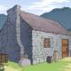 中世ヨーロッパ風の小屋