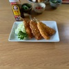 キスフライとおかのりと山芋と和風サラダ