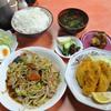 木更津 市場食堂 野菜炒め+カキフライの日