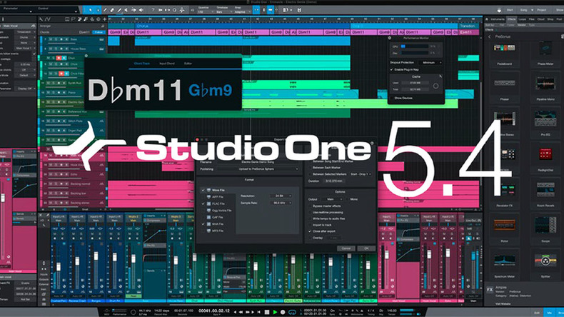 Studio One 5.4日本語版がリリース。APPLE M1チップへのネイティブ対応も実現