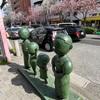 八重桜並木とサザエさんで有名な「桜新町」。煉獄さんの出身地!?