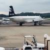 全日空ANA997(羽田→高松)A320 AERO LABのYS-11がまだ駐機中だった