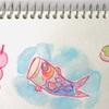 春の水彩色鉛筆日和