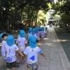 さきとり幼稚園年長組 早朝の参拝