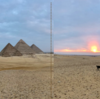 エジプト ギザ 「ピラミッド と共に朝日鑑賞」開園前の特別入場、最高の「Just Our ピラミッド!」 観光でしたぁ